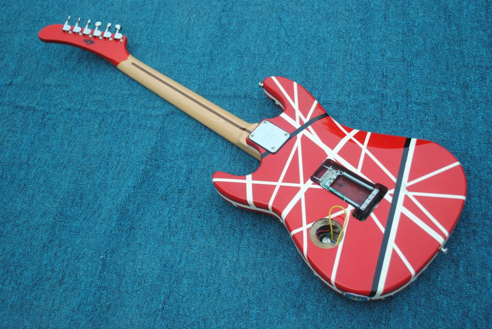 535e2788e92 2019 New + Factory + Kram EVH 5150 electric guitar Eddie Van Halen Kram  5150 guitar free shipping 5150 red striped guitar-in Guitar from Sports ...