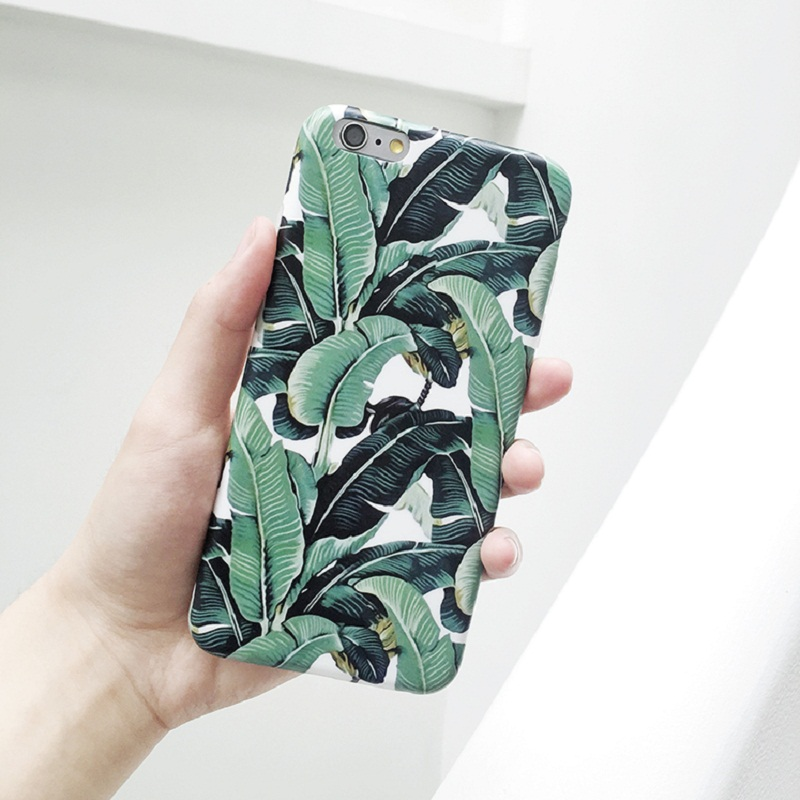 New Luxury IMD Banana Leaves Pattern Hard Plastic Style 3D Sublimation Back Cover Case For iPhone 5 5S SE/ 6 6S/ 6Plus 6S Plus