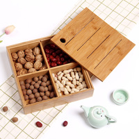 Europe Style Fruits Platter Bamboo Dish Plates for Snacks Nuts Desserts Fruit Eco Natural Bamboo Tray