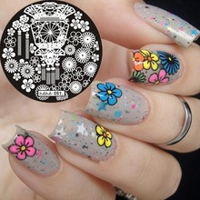 Hehe-series Round Nail Art Stamp Stamping Plates Template Lantern Flower Fan Pavilion Nail Art Stamp Template Image Plate #051 цена