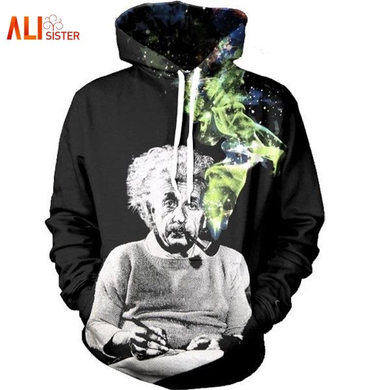 Fighting U Math Science Hoodies Graphic 3D Sweatshirts Men//Women Funny Print Einstein Hoodie