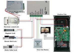 Image 5 - 9 дюймовый домашний видеодомофон, комплект домофона с колокольчиком, домашняя семейная камера с индуктивной картой для двери с монитором 2/3, система внутренней связи