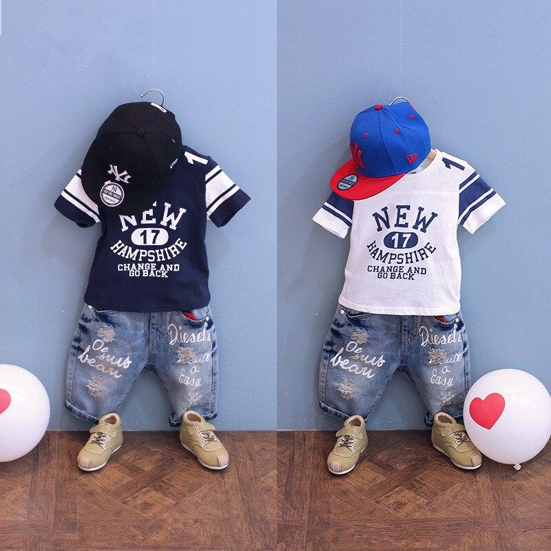 0037b99757986 Yeni varış kaliteli çocuk giyim tiki tarzı mektup çocuk bebek erkek kısa  kollu pamuklu t-shirt