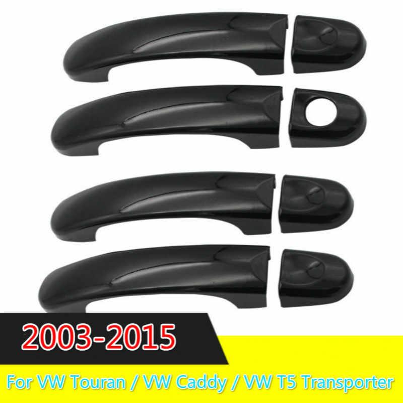 3 色 Vw トゥーラン/VW キャディー/VW T5 トランスポーター 2003-2015 クロームサイドドアハンドルカバートリムセット成形キャップ