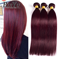 7A Burgundy Brazilian Hair 99j Brazilian Straight Hair 4 Bundles Burgundy Brazilian Human Hair Weaving Straight Virgin Hair