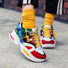 Yeni kadın rahat ayakkabılar nefes Sneakers yüksek kaliteli yetişkinler Masculino Trend moda ucuz dantel renk eşleştirme Zapatilla