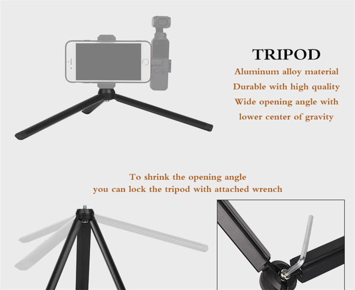 OSMO Pocket Smartphone Fixing Bracket Stand Clamp Extending Rod Tripod for DJI OSMO POCKET Gimbal Accessories 10