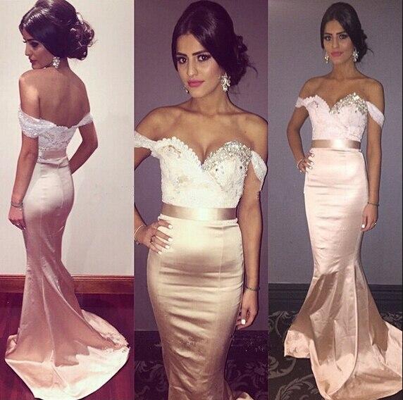 Champagne Gold Bridesmaid Dress Bruidsmeisjes Jurk 2016 Lace Sequin ...