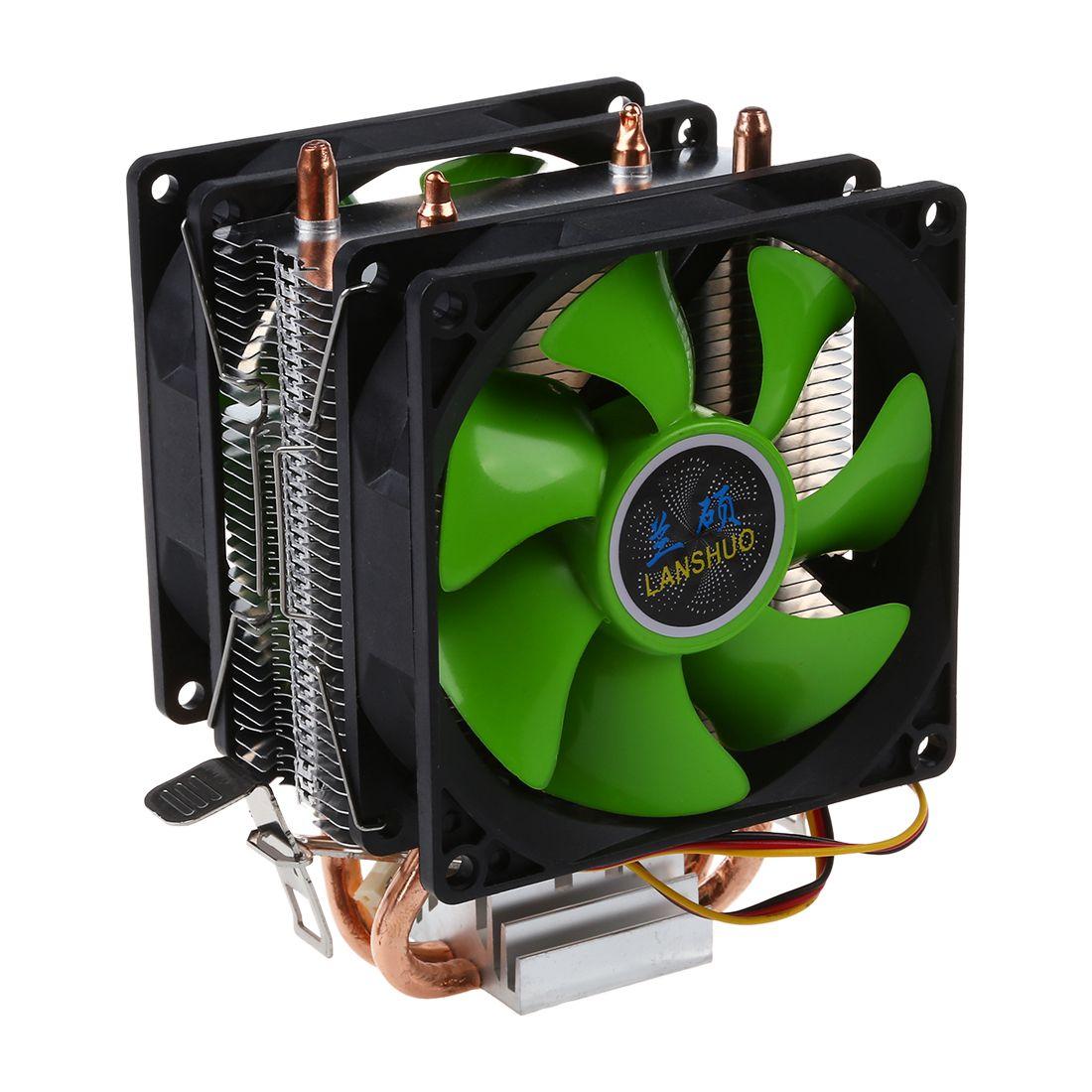 Dual Fan Hydraulische CPU Kühler Heatpipe Fans Kühlkörper Kühler Für Intel LGA775/1156/1155 AMD AM2/AM2 +/AM3/AM4 für Pentium