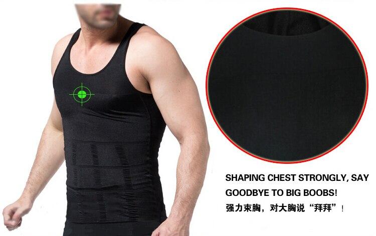 Men's Slimming Body Shaper Belly Fatty Underwear Vest Shirt Corset Compression shapewear Cincher Underbust Corset