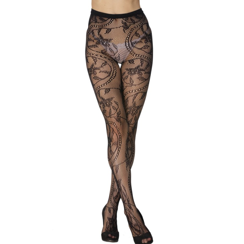 Best selling products online 2017 sexy black fishnet pantyhose female clothing floral pattern nylon stockings women SA79594