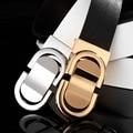 100% genuino cinturones de diseño hombres de alta calidad de la marca de lujo de la correa de cuero liso cinturón de hebilla de cinturón de piel de vaca cinturones hombre X8