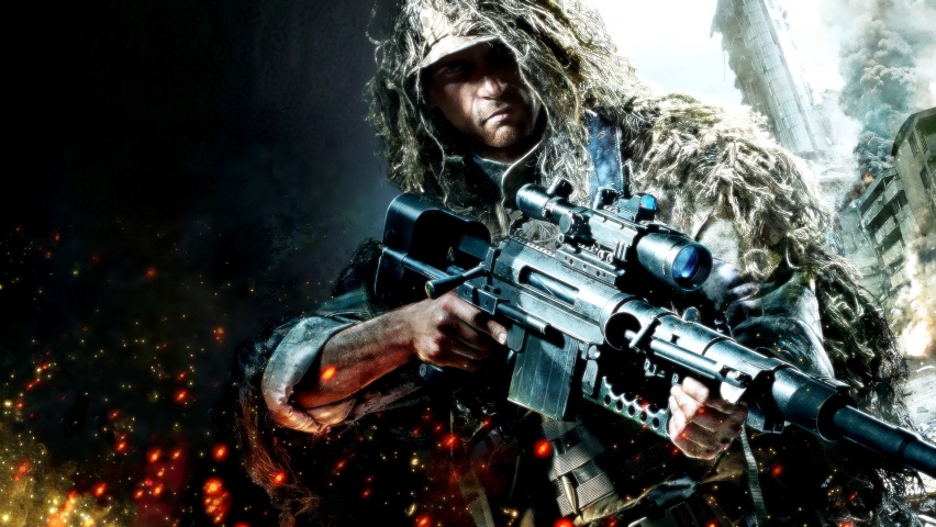 Living Room Home Wall Decoration Fabric Poster The Most Exciting Game Sniper Ghost Warrior 2