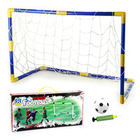 Mini Portable Folding Children Goal Football Door Set Football Gate With Pump Outdoor Indoor Sports Toy