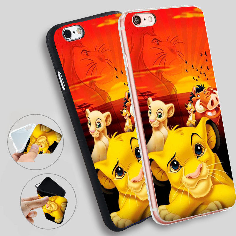 Hakuna Matata <font><b>Lion</b></font> <font><b>King</b></font> <font><b>Cases</b></font> For <font><b>iPhone</b></font> 8 7 7Plus 5 5S XR XS 11 Pro Max <font><b>Cases</b></font> Silicone Soft <font><b>Case</b></font> For <font><b>iPhone</b></font> <font><b>6</b></font> s 6s X Cover image