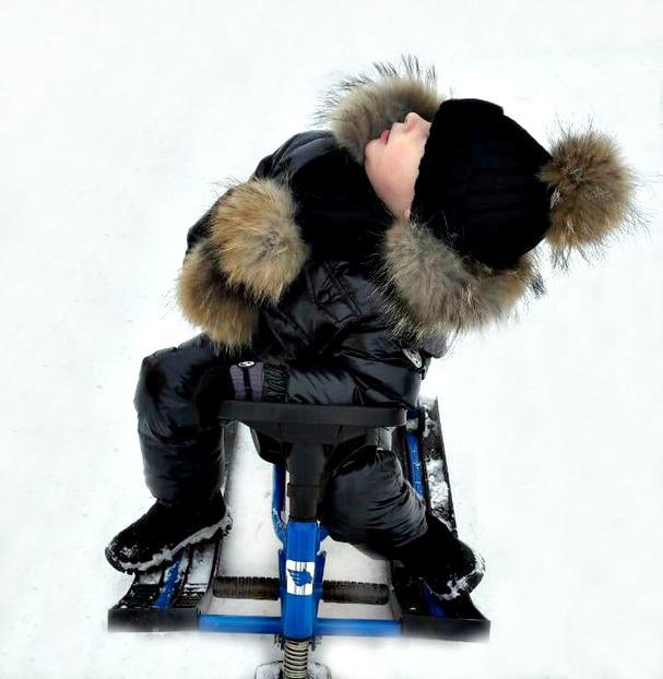 8a6191e0f437 Fur hooded boy girl duck down jacket warm kids snow suit waterproof ...