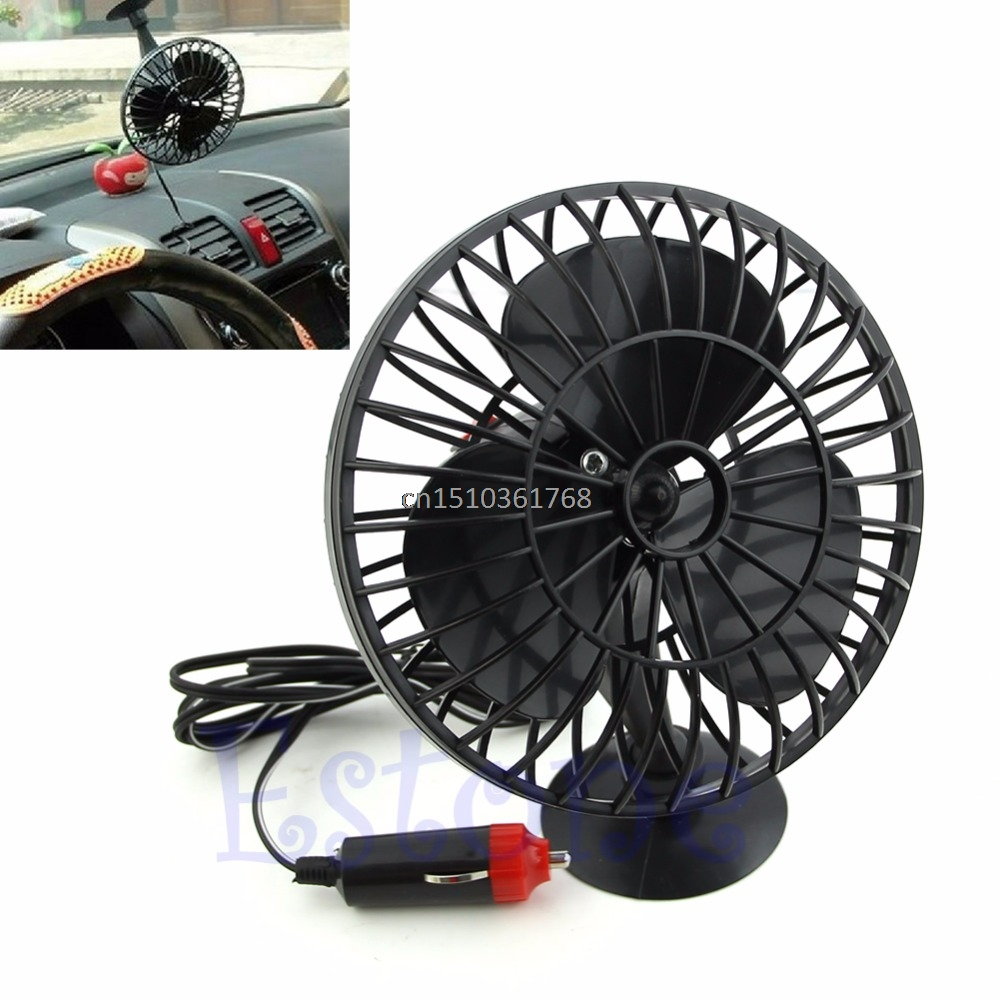 New Mini Truck Car Vehicle 12V Powered Cooling Air Fan Adsorption Summer Gift #Y05# #C05# delta 12038 12v cooling fan afb1212ehe afb1212he afb1212hhe afb1212le afb1212she afb1212vhe afb1212me