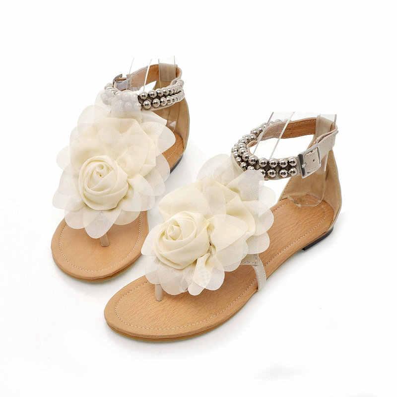 AIWEIYi femmes chaussures sandales confort sandales été tongs 2019 mode bohême plat sandales gladiateur Sandalias Mujer