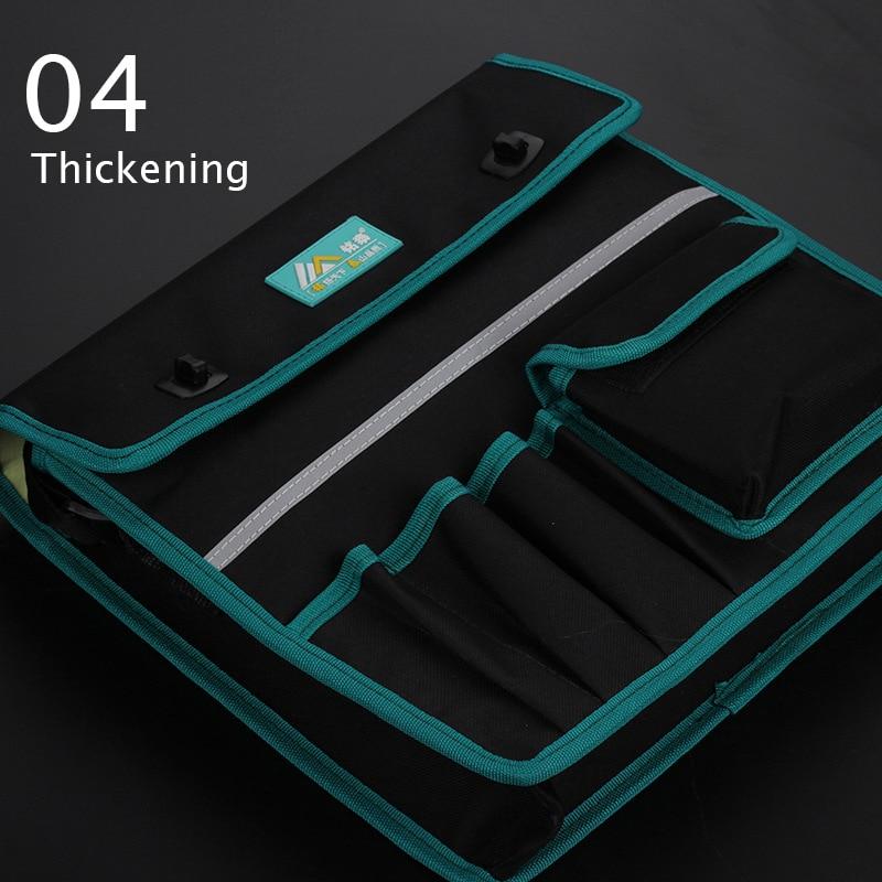 Купить с кэшбэком Multi-function waterproof tool bag finishing backpacks Kit package electrician maintenance belt waist tools free shipping sale