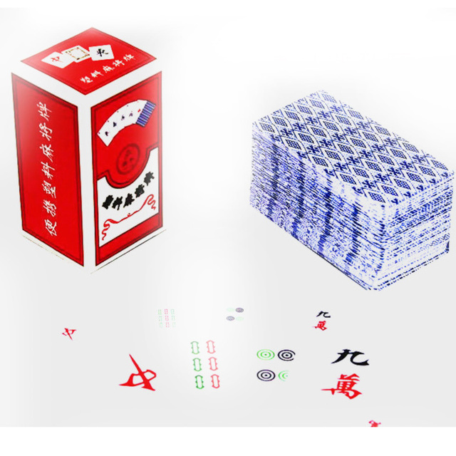 144 PCS Mahjong Education Board Game Family/Party Parents Waterproof Cards Game Entertainment