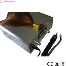 Extensão de cabelo ultrassônico, 1 peça eua/eu/ru plug, mais recente, digital, máquina de ferro, conectores, tecnologia de fusão fria, queratina ferramentas de salão