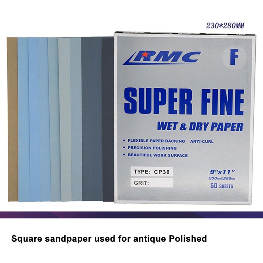 2-20Pcs 230x280mm Grit 400-7000 Wet Dry Sand Paper Abrasive Paper Sheets Polishing Sanding Waterproof Sandpaper CP38
