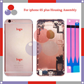 30Pcs/Lot DHL high quality For IPhone 6S Plus Full Housing Assembly Back Cover Battery with Sim Card Tray + Buttons+ Flex Cables