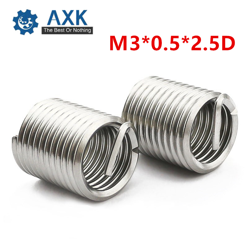100pcs M4x0.7x1.5D Metric Helicoil Screw Thread Wire Inserts 304 Stainless Steel