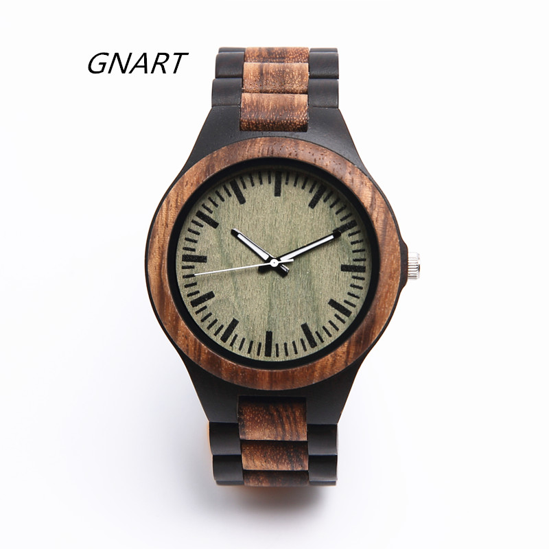 GNART wooden watch mens quartz relogio wood watch mens watches top brand luxury relogio masculino relogio pmw211
