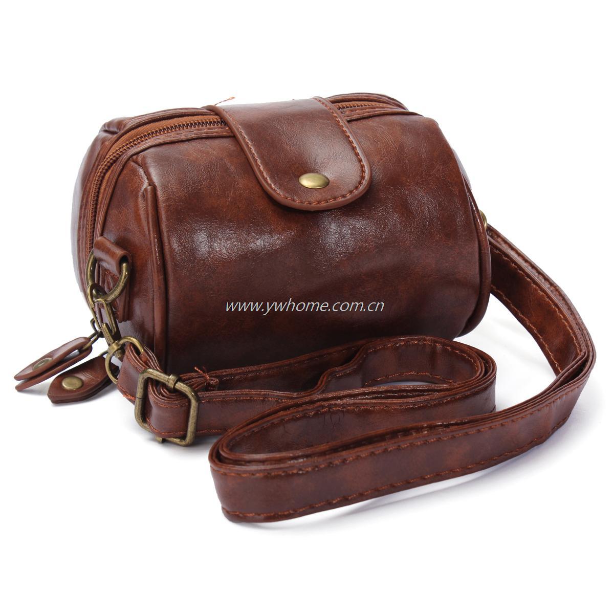 Innovative Buy Brown PU Leather Camera Bag For DSLR | BazaarGadgets.com
