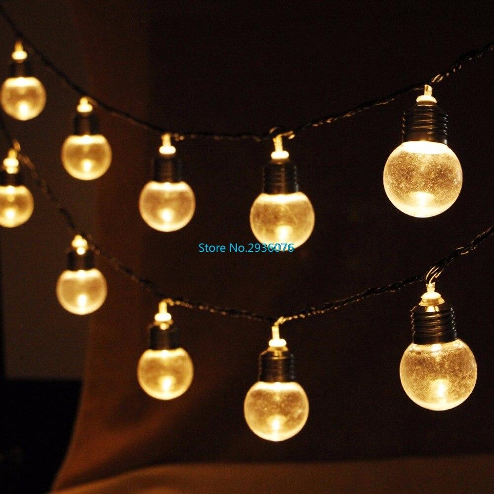 Novelty EU Plug 20 LED Globe Connectable Party Ball String Lamp Led Christmas Light Fairy Wedding Garden Pendant Garland MY15_30