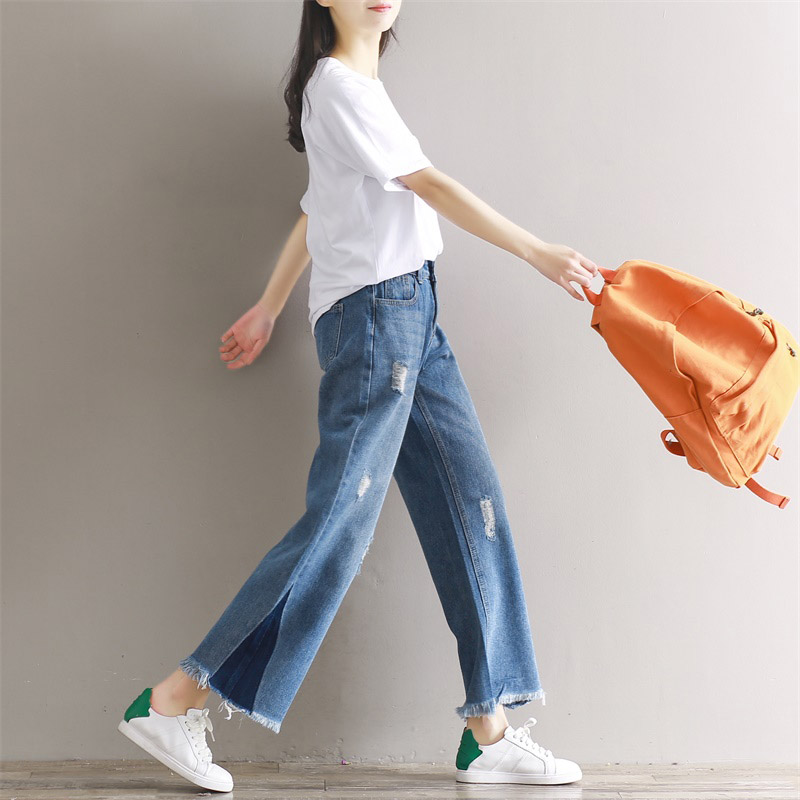 3eef285d517a2 THHONE Designer Denim Pants Jeans Women Trousers Loose Slim Plus Size Wide  Leg Pants Vintage Tassel Ripped Flare Jeans Female-in Jeans from Women s  Clothing ...