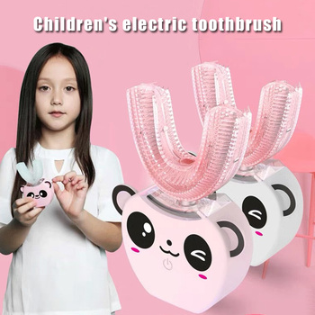 Kids Electric Toothbrush Fully Automatic Whitening Ultrasonic Silicone Toothbrush J2Y