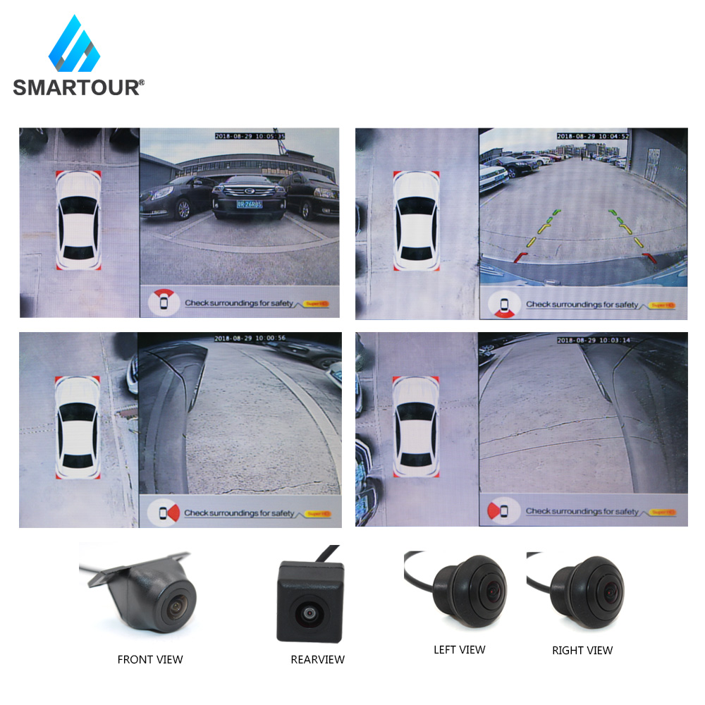 2d 360 View Driving Support View Panorama System 4 Car Camera Video