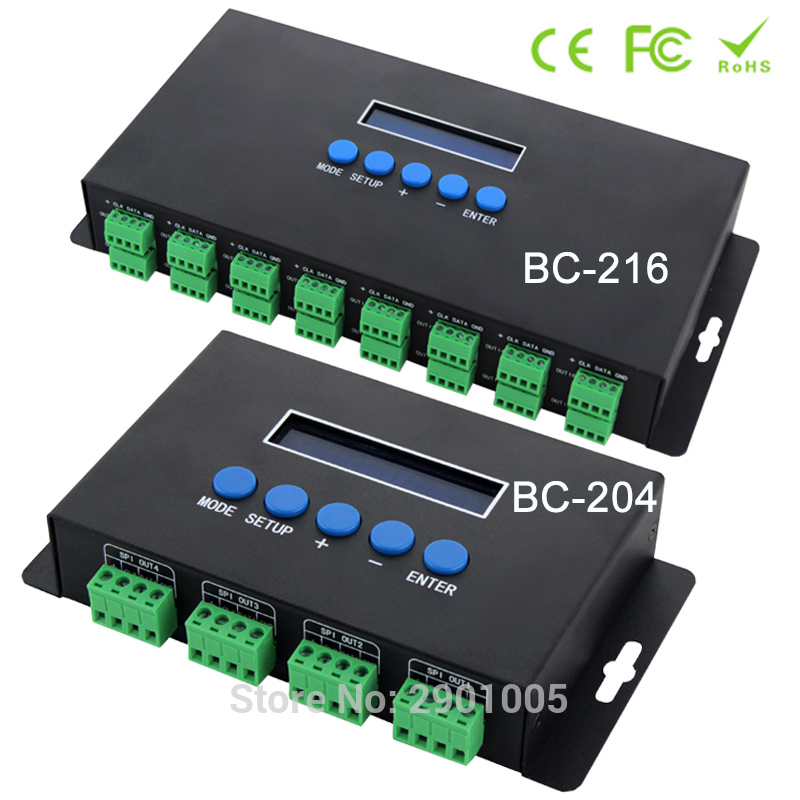 Image 2 - New arrival DC5V 24V Artnet Eternet to SPI/DMX pixel led light controller Output Current 4 channels 7Ax4CH/16 channels 3Ax16CH-in RGB Controlers from Lights & Lighting