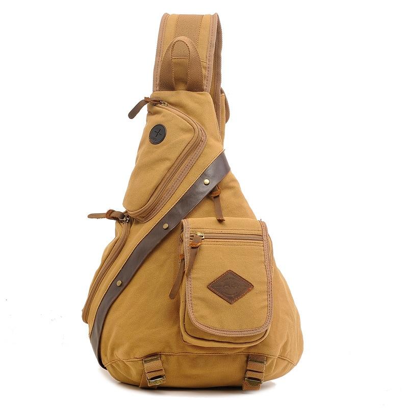 New Sling Canvas Bag Chest Pack Men Messenger Bags Casual Travel Male Small Retro Shoulder Bag Crossbody Daypack 50*35*14.5cm hx m x16 car air vent mount holder