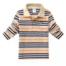 Kids Brands Stripe Polo Shirt for Boy Child School Polo Shirts Tops for Boys High Fashion Children Poloshirt Clothes 2-13 Years стоимость