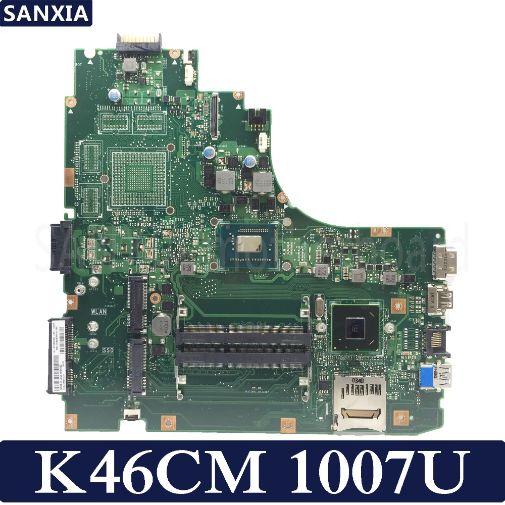 KEFU K46CM laptop motherboard for ASUS K46CM K46CB K46C K46 Test original mainboard 1007U CPU