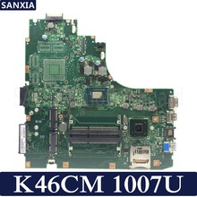 KEFU K46CM laptop motherboard for ASUS K46CM K46CB K46C K46 Test original mainboard 1007U CPU 100% working laptop motherboard for asus n45sf mainboard full 100%test