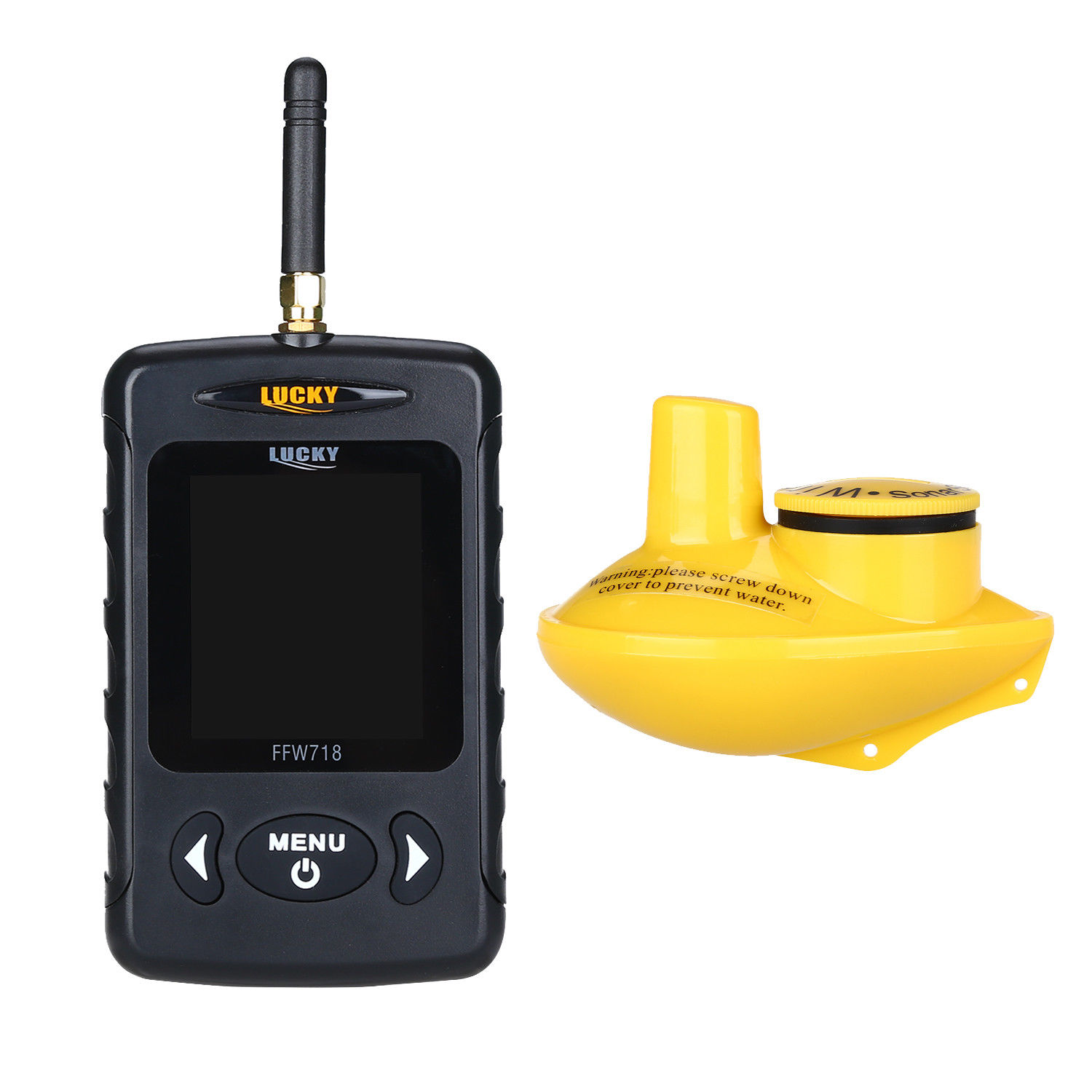 Image 3 - LUCKY FFW718 Wireless Russian Fish Finder Underwater 45M/135FT White LED Sonar Depth Sounder Alarm Ocean River Lake Sea Fishing-in Fish Finders from Sports & Entertainment