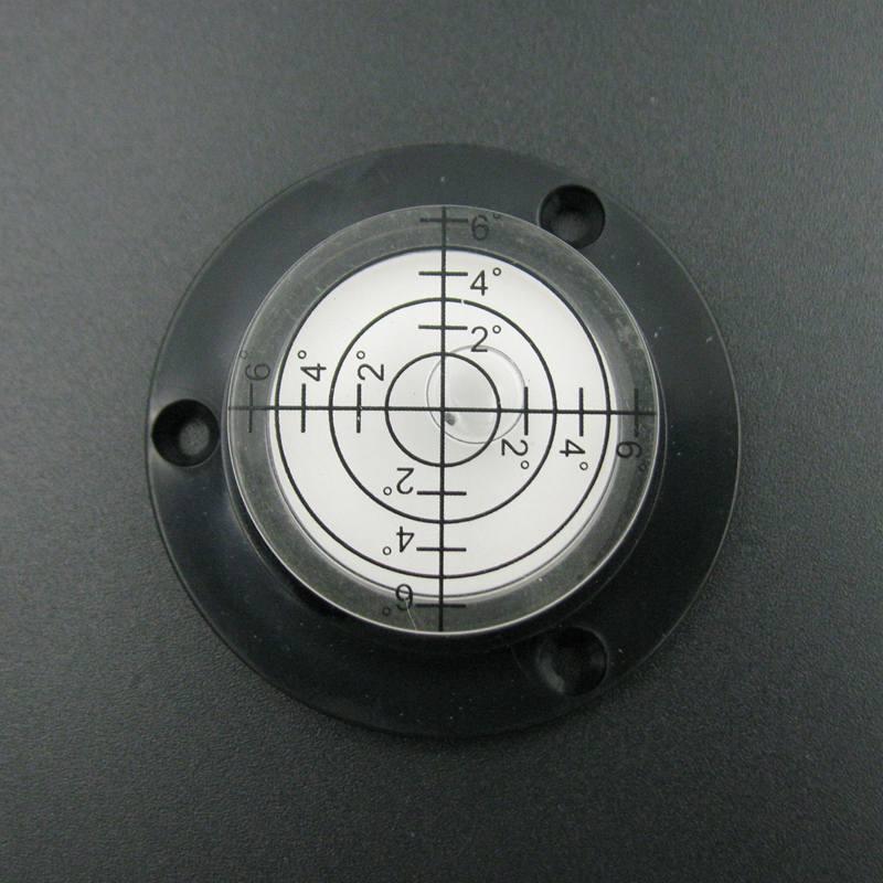 (10 Teile/los) 50*17mm Rund Wasserwaage Wasserstand Werkzeug Runde Wasserwaage Blase Fläschchen Schwarz Farbe Modischer (In) Stil;