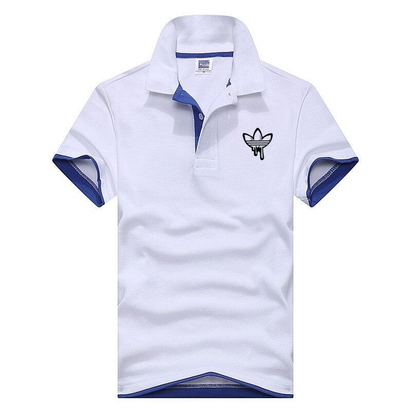 2018 Marke Polo Adi Männer Hemd Mens Fashion Kurzarm T Shirts Gute Qualität Einzelhandel Camisa Polo Mascu Großhandel Plus Größe 3x