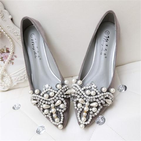 NEW Fashion 2016 Flats Shoes Women Ballet Princess Shoes For Casual Crystal Boat Shoes Rhinestone Women Flats PLUS Size 43