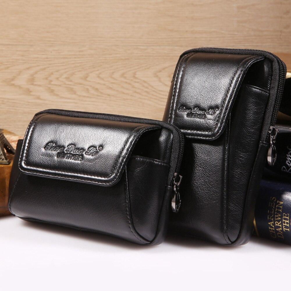 Högkvalitativ äkta läder vintage män hip bum bälte handväska - Bälten väskor - Foto 2