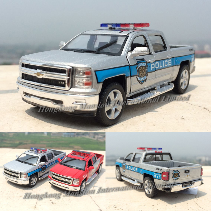 1:46 Scale Diecast Special Police Emergency & Fire Fighter Car Model For Chevrolet Silverado 2014 Pickup Collection Metal Toys Toys & Hobbies