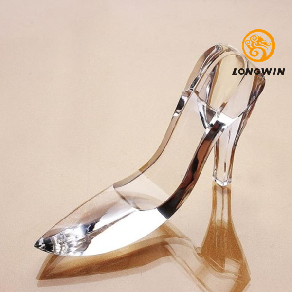 LONGWIN 13cm Cinderella Glass Slipper Paperweight Christmas Party ...