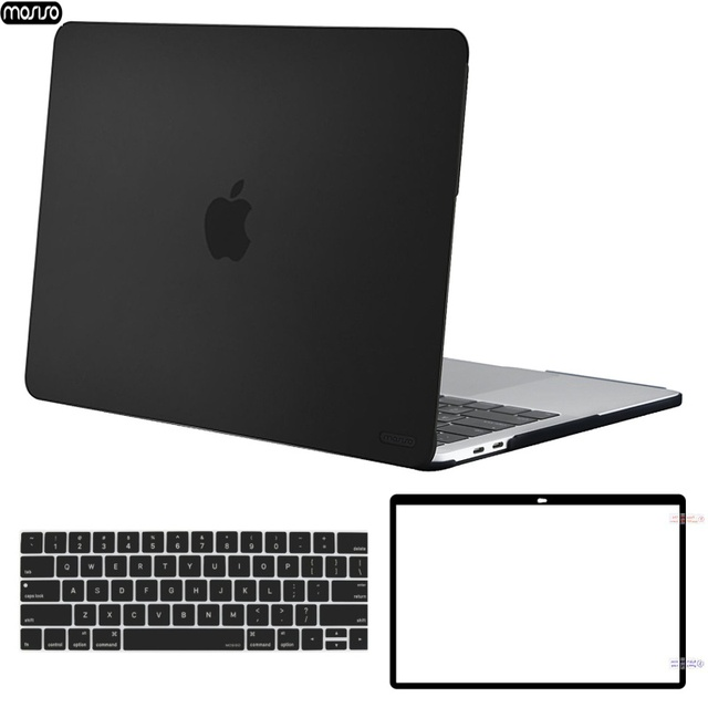 MOSISO Caso Laptop para Macbook Pro 13 15 Barra de Toque A1706 A1707 A1708 A1989 A1990 Matte Tampa Do Laptop para Mac caso do livro de 13.3 polegada