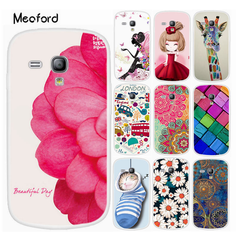 Cover for Samsung Galaxy S3 Mini <font><b>i8190</b></font> Phone <font><b>Cases</b></font> Soft Silicone Cute Painted Coque S3mini GT-<font><b>i8190</b></font> <font><b>Case</b></font> Clear TPU Bumper Cover image