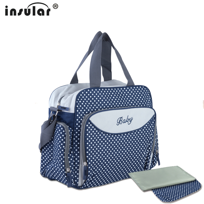 Multifunctional Dot Printing Diaper Bag Shoulder Messenger  Mummy Big Stroller Bag Maternity Handbag Nappy Baby Bags Hot Stylish mother bag baby bags multifunctional designer multifunctional diaper tote shoulder printing mummy durable bolsa nappy bag
