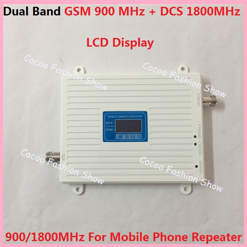 LCD Display !!! DCS 1800MHz GSM 900Mhz Dual Band Celular Signal Booster , GSM DCS 2G 4G Mobile Phone Signal Repeater AmplifierLCD Display !!! DCS 1800MHz GSM 900Mhz Dual Band Celular Signal Booster , GSM DCS 2G 4G Mobile Phone Signal Repeater Amplifier